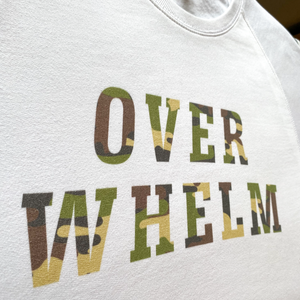 Custom Sweatshirt with Green Camo Print (pick your own wording!)