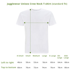 Breathe Deep + Keep Juggling Dusky Green Unisex Fit Organic Tee