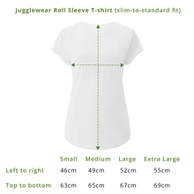 Load image into Gallery viewer, Five Minutes Stonewash Plum Roll Sleeve Organic Tee - WOMEN