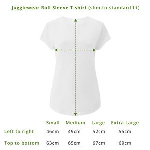 Five Minutes Stonewash Plum Roll Sleeve Organic Tee - WOMEN