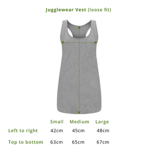 Is It Bedtime Yet Grey Marl Organic Vest - WOMEN