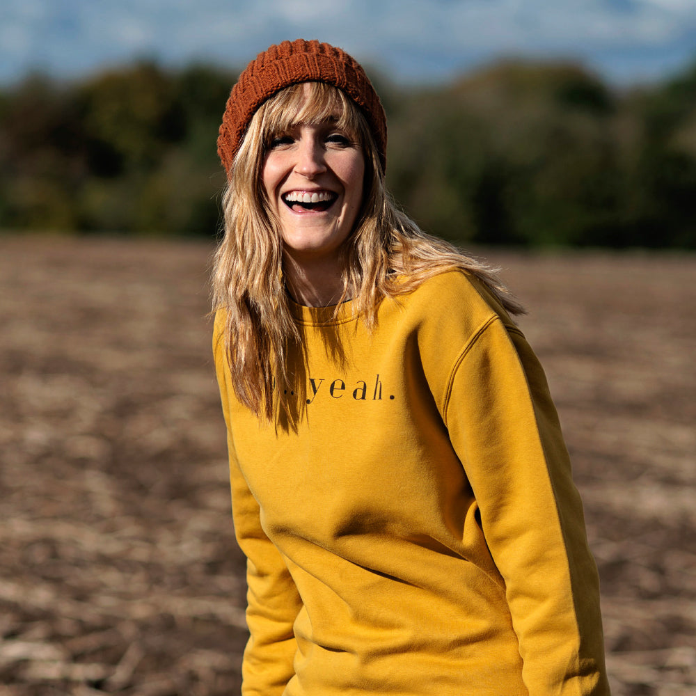 So Yeah Mustard Earth-Friendly Sweatshirt (limited number in stock!)