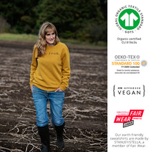 Load image into Gallery viewer, So Yeah Mustard Earth-Friendly Sweatshirt (limited number in stock!)