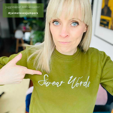 Load image into Gallery viewer, Swear Words Khaki Organic Sweatshirt (limited number in stock!)