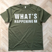 Load image into Gallery viewer, What's Happening Organic Moss Green Tee - MEN