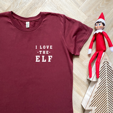 Load image into Gallery viewer, I Love the Elf Organic Tee - WOMEN