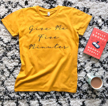 Load image into Gallery viewer, Five Minutes Mustard Organic Tee - WOMEN