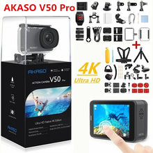 Load image into Gallery viewer, AKASO Action Camera V50 PRO 4K 30FPS Touch Screen WiFi Remote Control Sports Video Camcorder DVR DV go Waterproof pro Camera