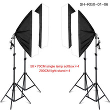Load image into Gallery viewer, Photo Studio 4PCS LED 20W Softbox Kit Photographic Lighting Kit Camera & Photo Accessories Light Stand Softbox for Camera Photo