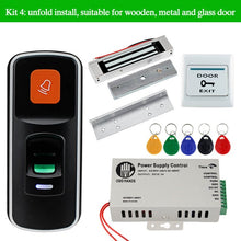 Load image into Gallery viewer, OBO RFID Door Access Control System Kit Set 125KHz Fingerprint Biometric +Electric Magnetic Electronic Locks+ DC12V Power Supply