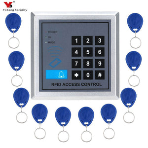 Yobang Security RFID Lock with Door Lock Device Machine Security Proximity Entry Access Control System 500 User +10 RFID Keyfobs