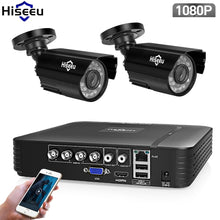 Load image into Gallery viewer, Hiseeu AHD Security Camera System 1080P Video Surveillance 4CH 5 in 1 DVR Infrared CCTV System Waterproof E-mail Alert XMeye