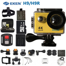 "Load image into Gallery viewer, EKEN H9R H9 Action Camera Ultra HD 4K Sports Camcorder Remote WiFi Mini Helmet go extreme pro cam 2.0"" 170D For RC Drone"