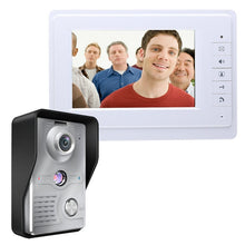 Load image into Gallery viewer, Video Door Intercom 7''Inch Wired Video Door Phone Visual Video Intercom System Doorbell Monitor Camera Kit For Home Security