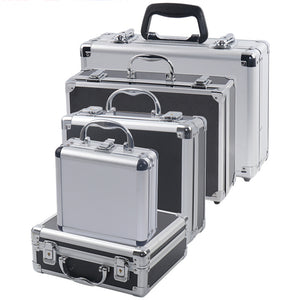 Portable Aluminum Tool Box Safety equipment Toolbox Instrument box Storage Case Suitcase Impact Resistant Case With Sponge