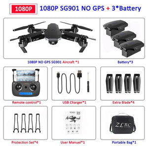 SG907 GPS Drone with Camera 4K 5G Wifi RC Quadcopter Optical Flow Foldable Mini Dron 1080P HD Camera Drone VS E520S E58 XS812