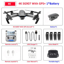 Load image into Gallery viewer, SG907 GPS Drone with Camera 4K 5G Wifi RC Quadcopter Optical Flow Foldable Mini Dron 1080P HD Camera Drone VS E520S E58 XS812