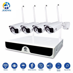 Kit CCTV Wireless Video Surveillance H.265 8CH NVR 4 Cameras Home Security  System DVR Kit Outdoor IP Camera CCTV Camera System