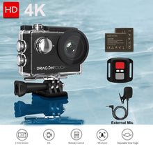 Load image into Gallery viewer, Dragon Touch Action Camera Vision 4 4K EIS 16MP Support External Mic Underwater Camera with WiFi Remote Control Sports Camera