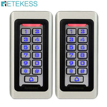 Load image into Gallery viewer, 2pcs RETEKESS Keypad RFID Access Control System Proximity Card Standalone 2000 Users Door Access Control Waterproof Case F9501D
