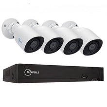 Load image into Gallery viewer, Movols 5MP Video Surveillance System 8CH H.265 DVR 4PCS 2592*1944 HD Security Camera Kit Indoor/ Outdoor IR-cut P2P CCTV System