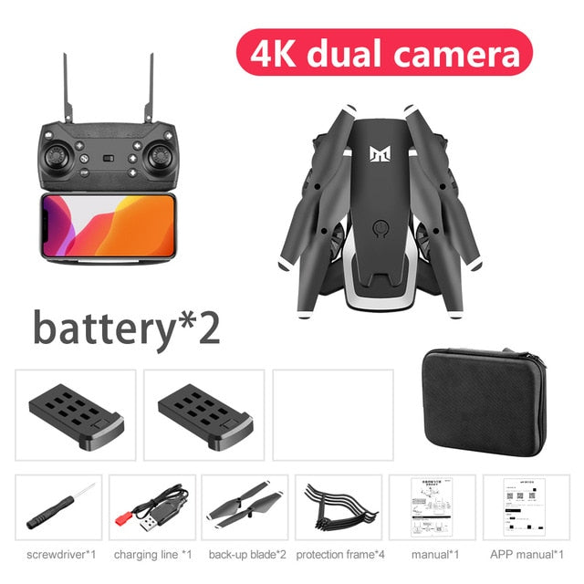KK6 Drone Professional 4K dual cameras WIFI FPV Drone Flight 20 Mins Long Range Drone Quadcopter dual cameras Drone Newest Toys