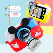 Load image into Gallery viewer, Children Digital Camera 30MP 2.4 Inch IPS Screen 1080P HD Video Selfie Mini SLR Children Toy Camera Birthday Gift Minibear