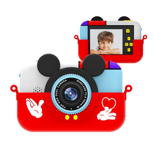 Children Digital Camera 30MP 2.4 Inch IPS Screen 1080P HD Video Selfie Mini SLR Children Toy Camera Birthday Gift Minibear