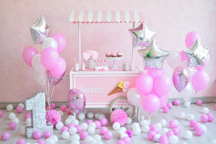 Photo Background Children Birthday Photo Studio Backdrop 3D Photography Backdrop Wall Props Party Supplies