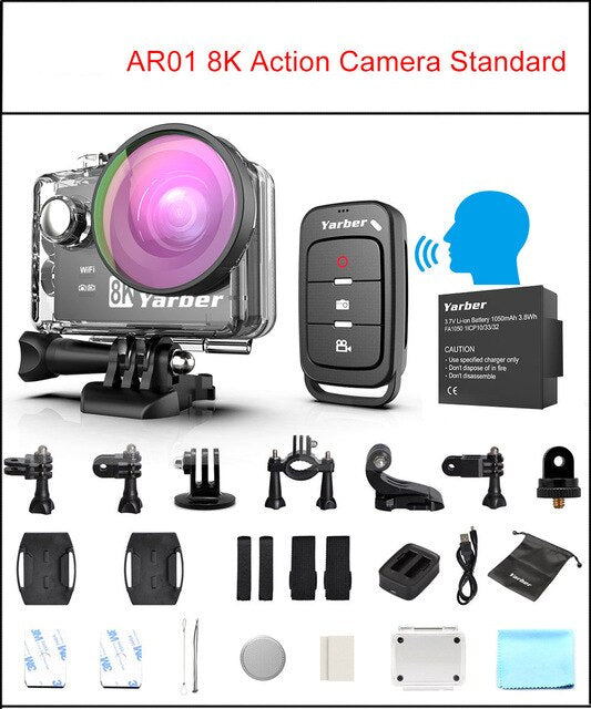 Action Camera Ultra HD 8K WiFi 2.0