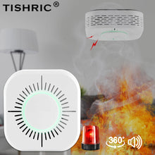 Load image into Gallery viewer, TISHRIC 433Mhz Wireless Smart Wifi Smoke Detector Fire Alarm Sensor  Smoke Sensor Compatible With Sonoff RF Bridge