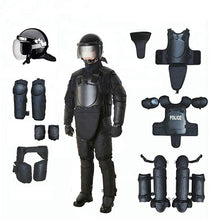 Load image into Gallery viewer, black matte high impact Resistant Training Security Helmet protective equipment full body armor Anti riot protection suit