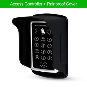 Waterproof RFID Access Control Keypad Outdoor Rainproof Cover 125KHz EM Card Reader 10pcs Keyfobs For Door Access Control System