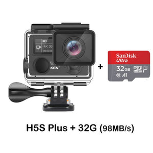 EKEN H5S Plus Ultra HD Action Camera Touch Screen Ambarella A12 EIS 4k/30fps 720p/200fps 30M waterproof go Helmet pro sport cam