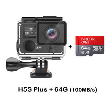 Load image into Gallery viewer, EKEN H5S Plus Ultra HD Action Camera Touch Screen Ambarella A12 EIS 4k/30fps 720p/200fps 30M waterproof go Helmet pro sport cam