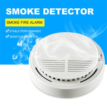 Load image into Gallery viewer, Smoke detector fire alarm detector Independent smoke alarm sensor for home office Security photoelectric smoke alarm Fire Alarm