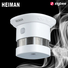 Load image into Gallery viewer, HEIMAN Zigbee 3.0 Fire alarm Smoke detector Smart Home system 2.4GHz High sensitivity Safety prevention Sensor Free Shipping