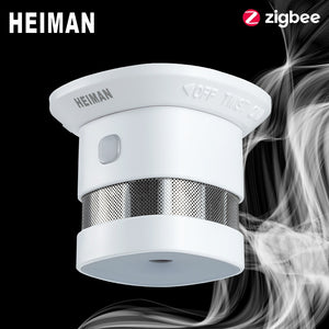 HEIMAN Zigbee 3.0 Fire alarm Smoke detector Smart Home system 2.4GHz High sensitivity Safety prevention Sensor Free Shipping