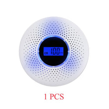 Load image into Gallery viewer, Smoke Detector & Carbon Monoxide Sensors 2 in 1 LCD Display Battery Operated CO Alarm with LED Light Flashing Sound Warning