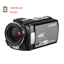Load image into Gallery viewer, Video Camera 4K Digital Camcorder Full HD ORDRO AE8 Night Vision wifi 3.0 IPS Touch Screen Filmadora Vlog Camera