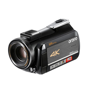 Camcorder 4K Video Camera Professional Ordro AC5 12X Optical Zoom Filmadora Camara with Stabilizer