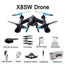 Load image into Gallery viewer, X8SW Multicopter Remote Helicopter Quadcopter Camera Drone Quadrocopter RC Dron Remote Control Toys or No Camera