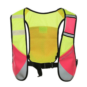 Multifunction Reflective Vest High Visibility Reflective Vest Security Equipment Night Tops for Marathoner Running Race Cycling