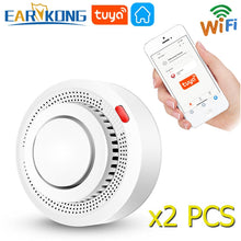Load image into Gallery viewer, Tuya WiFi Smoke Alarm Fire Protection Smoke Detector Smokehouse Combination Fire Alarm Home Security System Firefighters