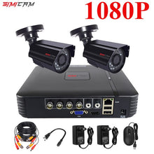 Load image into Gallery viewer, Video surveillance system CCTV Security camera Video recorder 4CH DVR AHD outdoor Kit Camera 720P 1080N HD night vision 2mp set