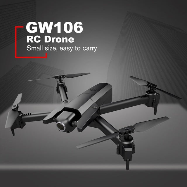 RC Fodable Drone GW106 720P Helicopter Wifi FPV Altitude Hold Helicopter Headless Mode RC Drone with HD Camera Drones