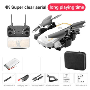 LF609 Professional Camera Drone 4K WIFI HD FPV RC Quadcopter Drone Aircraft Helicopter Selfie Foldable Toys Kid Long Battery