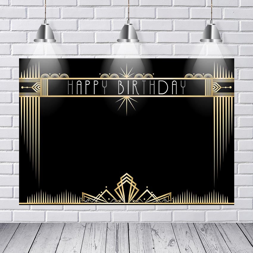 Great Gatsby Backdrops Gatsby Theme Happy Birthday Party Banner Decoration Photography Backdrops Studio Shoots Event Supplies