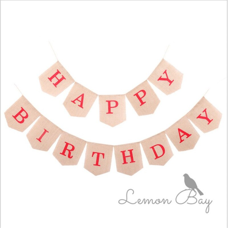 Birthday party decoration linen pull flag swallowtail flag bar photo studio layout supplies pull flower custom