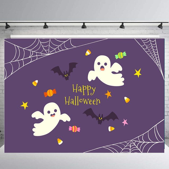 BEIPOTO Fabric Halloween Decorations Backdrop for Photography Horrible Party Banner Photo Background Studio Booth Props supply